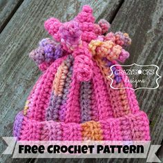 Click below link for free pattern… Danyel Pink Designs: Crochet Pattern – Delaney Hat Crochet Baby Hats, Crochet Beanie, Knit Or Crochet, Cute Crochet, Crochet Scarves, Crochet Crafts, Yarn Crafts, Crochet Clothes, Crochet Stitches