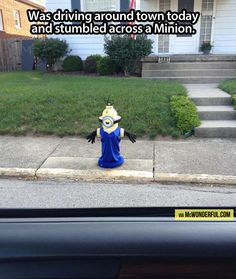 Minions are taking the streets… I know what I'm decorating for Halloween.