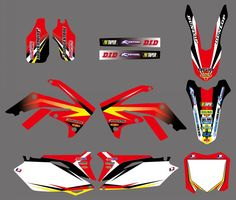 0600 NEW  TEAM  GRAPHICS&BACKGROUNDS DECAL STICKERS Kits  for Honda CRF250R CRF250 2010-2013 & CRF450R CRF450 2009 -2012 #Affiliate