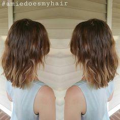 Olaplex Beach Wave Perm Using Flex Rods On Medium Length Hair -Follow me on Instagram for more hair color and cut ideas @loveglamglitzhair #amiedoesmyhair Located In Louisville Ky.