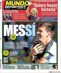 Portada Mundo Deportivo 02/07/2014 - MESSÍ