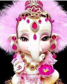 Such a cute loard Ganesha's idol. Jai Ganesh, Ganesh Lord, Shree Ganesh, Lord Krishna, Lord Shiva, Ganesh Chaturthi Images, Happy Ganesh Chaturthi, Ganesha Tattoo Lotus, Lotus Tattoo