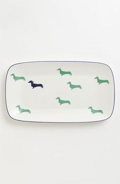 kate spade new york 'wickford - dachshund' hors d'oeuvre tray available at Nordstrom