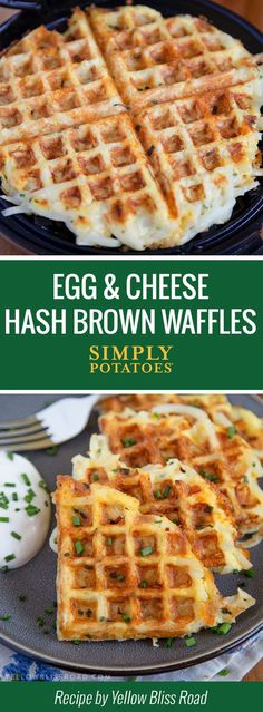 An all-in-one breakfast hack. Whip out your waffle maker and crisp up some easy-cheesy, golden brown potato delights that'll leave you wondering why you never thought of it before.