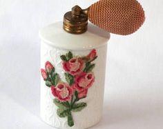 Vintage Made in Austria Needlepoint Perfume Atomizer