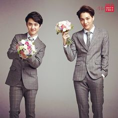 D.O and Kai | 141023 lottedutyfree Instagram Update// this is their wedding pic don't care what anyone else thinks XD