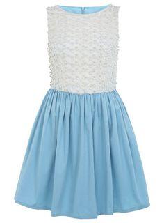 Duck Egg Mesh Prom Dress