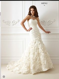 Rosettes In The Skirt Of This Jasmine Bridal F473 New Wedding Dress Smartbrideboutique