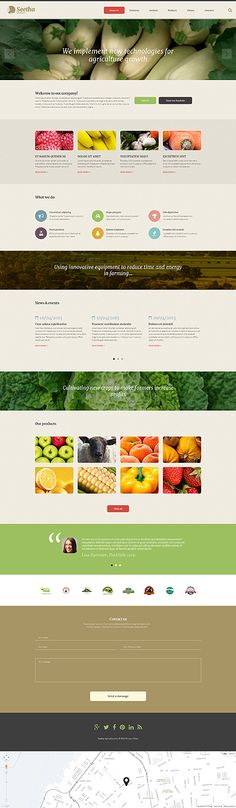 Agriculture Website Template | Agriculture companies and Website