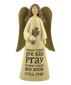 Another great find on #zulily! 'Pray' Angel Figurine by Blossom Bucket #zulilyfinds