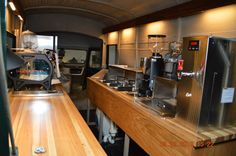 inteligencia coffee truck  // nice interior set up too! looks just as good on the inside as the outside
