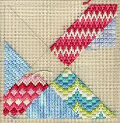 Con cañamazo y diferentes hilos nos iniciaremos en el mundo de la tapicería creando texturas con los distintos materiales y aprovechando las posibilidades de los muchísimos puntos que existen; punto florentino, de mosaico, húngaro, bizantino, gob