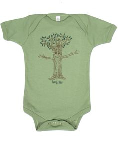 Tree Organic Cotton Baby Bodysuit: Soul Flower Clothing