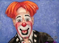 Watercolor Clown #7 Ryan Combs Painting