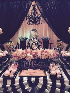 Parisian Quinceañera party! See more party planning ideas at CatchMyParty.com!