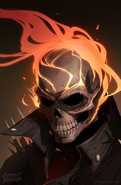 "tomasoleksak: "" Ghost rider tribute poster, one of my favorite Marvel heroes. Hq Marvel, Marvel Comics Art, Marvel Heroes, Thanos Marvel, Captain Marvel, Ghost Rider Drawing, Ghost Rider Tattoo, Ghost Rider Wallpaper, Marvel Wallpaper"