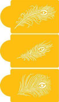 Designer Stencils Peacock Feather Cake Stencil Set: Kitchen & Dining: Amazon.com