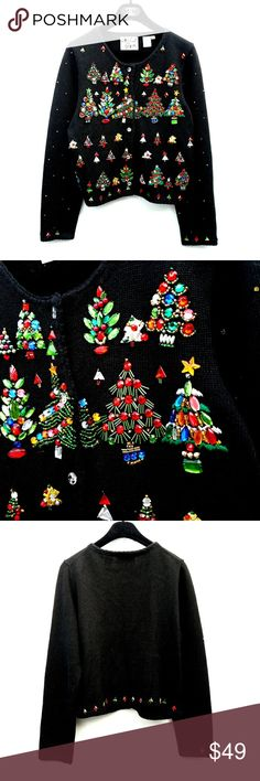 Vintage  Michael Simon Beaded Christmas Sweater Excellent vintage condition  Feel free to ask me any additional questions. No trades, or modeling. Happy Poshing! Michael Simon Sweaters