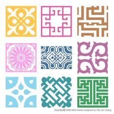 격자 무늬문양 세트. 기하학 패턴, 한국 전통문양 패턴디자인. (BPTD020211) Plaid Symbol sets. Geometric Pattern Design. Korean traditional Pattern is a Pattern Design. Copyrightⓒ2000-2014 Boians.com designed by Cho Joo Young. Textile Patterns, Textile Design, Window Grill Design, Korean Design, Oriental Pattern, Korean Art, Doodle Sketch, Stencil Designs, Pictures To Draw