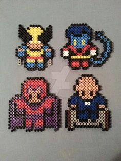X-Men Perler Bead Figures 1/3 by AshMoonDesigns on DeviantArt