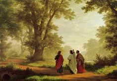 The Way to Emmaus - Robert Zund The simple story of the walk to Emmaus which Luke tells us, provides a picture of the risen Christ unequaled by any other record of the resurrection. There is the sense among Jesus' followers that something big has taken place, but the importance and effects of it have not sunk in. It just did not make sense to them.http://genebrooks.blogspot.com/2013/04/luke-2413-35-road-to-emmaus.html