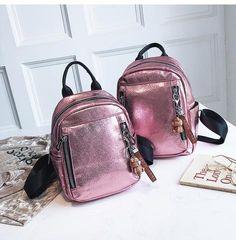 343b484d2d Women PU Leather Backpack Mini Backpack Cute Back pack Rucksack For Teenage  Girls Small School Bags 2019 Feminine Mochila XA545H