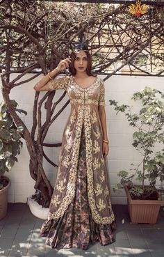 bisouNYC - Lace Top And Printed Lehenga