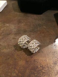 Silver gasometer earrings