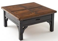 Reclaimed Wood Furniture Coffee Table One Drawer