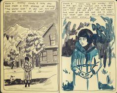 Moleskine Sketchbook Diary, copyright 2014 Nicky Nargesian