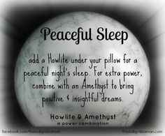 Peaceful sleep... Awesome!!! Just got some nice Howlite to combine with my amethyst. <3
