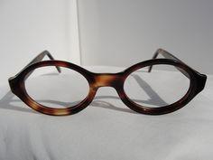 Vintage Graceline Tortoise Shell Oval Eyeglass Frames 39mm 29mm Eyeglasses