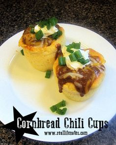 Cornbread Chili Cups recipe, wolf brand chili