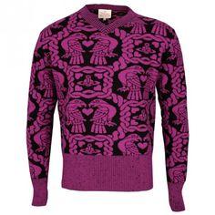 Vivienne Westwood Gold Label Eagle V-Neck Jumper Pink | GarmentQuarter