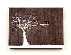 Modern Coo-Coo Clock albero_bianco