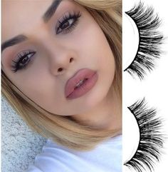 The perfect falsies to achieve those flirty doll eyes! Kardashian lashes have nothing on these! The various lengths on this fluttery lash style provides an effo