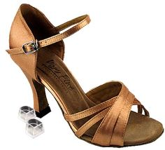 Women's Salsa Ballroom Tango Latin Dance Shoes Style 6030 Bundle with Plastic Dance Shoe Heel Protectors, Brown Satin 8.5 M US Heel 3 Inch Very Fine Shoes http://www.amazon.com/dp/B0099YRDZ8/ref=cm_sw_r_pi_dp_N7b7tb14PNG5J