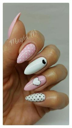 After the procedure, the material for which is a natural component - rubber, the nails become more durable and elastic. Dream Nails, Love Nails, Pink Nails, Pretty Nails, Gel Nails, Nail Polish, Nail Manicure, Almond Acrylic Nails, Summer Acrylic Nails