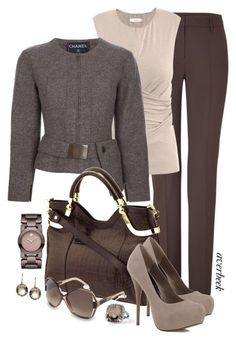 Crazy For Chocolate by averbeek on Polyvore featuring мода, MaxMara, Chanel, Piazza Sempione, Movado, Blue Nile, Marie Hélène de Taillac, Milly and Balenciaga