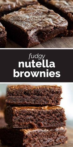 You are only 3 ingredients away from these rich and decadent Fudgy Nutella Brownies! One bowl and 30 minutes, and you'll have have a dessert that everyone will devour. recipes desserts One Bowl, 3 Ingredient Fudgy Nutella Brownies - Taste and Tell Desserts Nutella, Nutella Fudge, Fudge Brownies, Easy Desserts, Delicious Desserts, Yummy Food, 3 Ingredient Nutella Brownies, Two Ingredient Desserts, 3 Ingredient Cookies