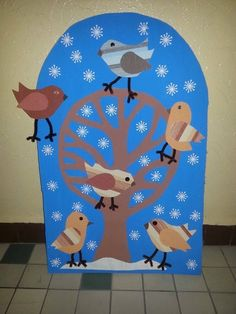 Pin by Heili Kaas-Lutsberg on Art ideas for kids Winter Art Projects, Winter Project, Winter Crafts For Kids, Winter Kids, Art For Kids, Bird Crafts, Paper Crafts, Feeding Birds In Winter, January Art