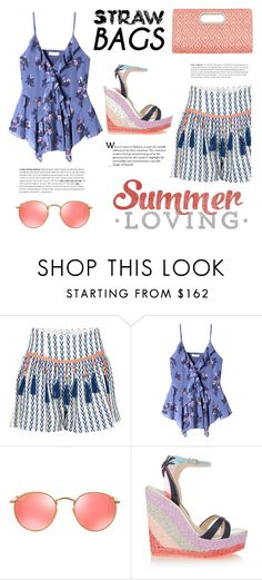 """Summer Loving"" by junglover ❤ liked on Polyvore featuring Alphamoment, Rebecca Taylor, Ray-Ban and Sophia Webster"