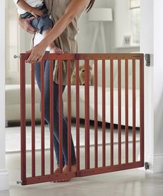 Another great find on #zulily! Wood Extending Safety Gate #zulilyfinds
