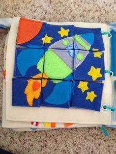 The Quiet Book Blog: Marci's Quiet Book puzzle cohete