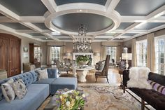 How to build coffered ceiling living room contemporary with coffered ceiling win. How to build coffered ceiling living room contemporary with coffered ceiling window treatment high Wooden Ceiling Design, Wooden Ceilings, Coffered Ceilings, Painted Ceilings, Living Room Colors, Living Room Designs, Living Room Decor, Living Rooms, Bedroom Designs