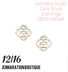 {DAY 16} 25 Days of Jenna's Faves — Today we're giving away Kendra Scott Gold Stud Earrings ($50 Value) To enter: Repin and Like this photo. Enter on ALL social media sites for more entries (Facebook, Facebook VIP group, Twitter, Snapchat, and Facebook VIP group) Winner will be randomly selected on 12/19 and will be announced in the comments below ❄️🎁💄✨