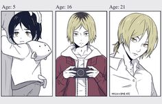 kenma, growing up, http://milkybreads.tumblr.com/post/112273496458/i-did-the-growing-up-meme-thing-gimme-10-chibi