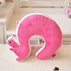 Cute Squirrel Shaped Neck Pillow Good For Travel (6 colors)
