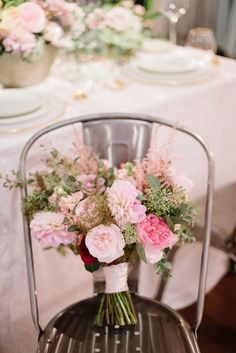 This blush bridal bouquet features garden roses, dahlias, ranunculus and astilbe with touches of greenery. | Bob Gail Events #bridalbouquet #blushweddingideas Blush Wedding Colors, Blush Bridal, Natural Blush, Different Types Of Flowers, Groom And Groomsmen, Dahlias, Ranunculus, Floral Centerpieces, Wedding Events