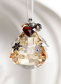Swarovski Holiday Bell Ornament, Crystal Golden Shadow, 2012